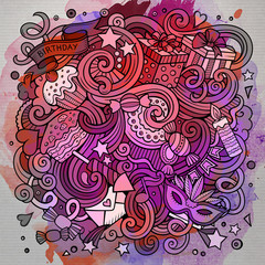 Cartoon hand-drawn doodles holidays illustration