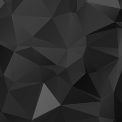 Low poly triangulated background. Black and white. Vector illustration.