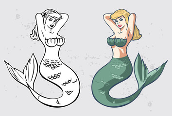 Sexy Mermaid, vector