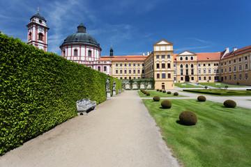 Jaromerice nad Rokytnou castle, Czech Republic. Sunny day at the