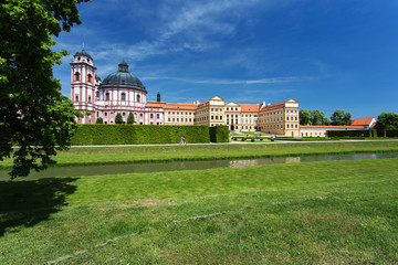 Jaromerice nad Rokytnou castle, Czech Republic. Sunny day at the
