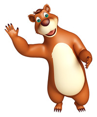 cute funny Bear cartoon character