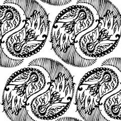 decorative floral element of beautiful paisley henna design Vector Illustration