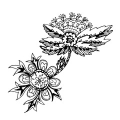 decorative floral element of beautiful paisley henna design Vector Illustration