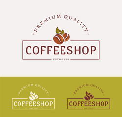 Vector coffee shop logos.