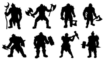 orc silhouettes