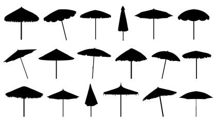 Obraz parasol silhouettes - fototapety do salonu