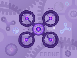 Abstract image drone. Vector