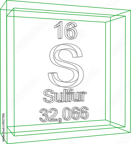 Periodic Table Of Elements Sulfur Stock Image And Royalty Free