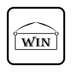 winning tablet simple vector icon