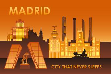 Madrid city that never sleeps