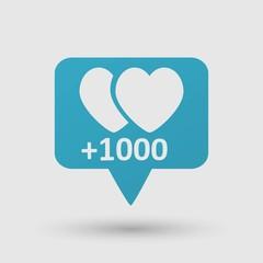 Heart in speech bubble icon