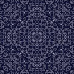 Medieval floral seamless pattern.