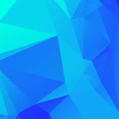 Low poly triangulate background. Blue shades. Vector illustration.