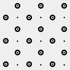Pattern rounds. Monochrome minimal, geometric. Can be used as wrapping paper or texture for clothes.