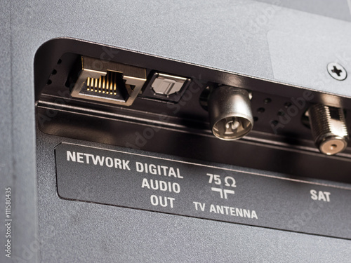 Moderner Fernseher Smart Tv Anschlusse Internet Android
