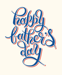 happy father's day handwritten inscription design greeting card