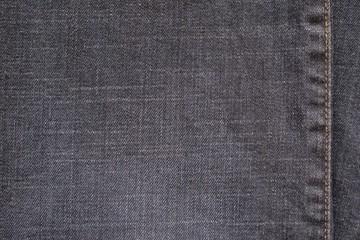 texture denim with the stitched seam of dark color