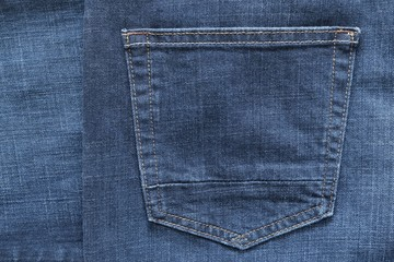 part jeans clothes with a pocket of blue color