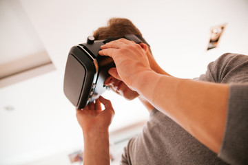 Young Man Using VR
