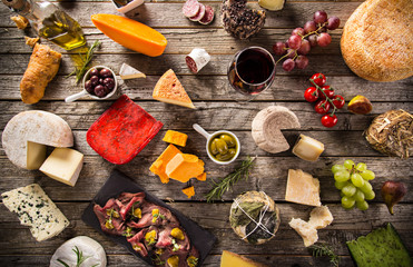 Fototapeta Delicious cheese on the table