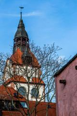 Turm am Einganshaus des Zoologischen Garten in Leipzig