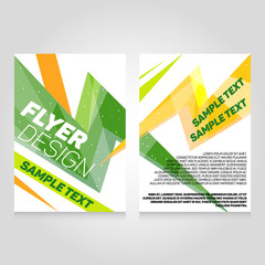 Brochure flier design template. Vector concert poster illustration. Leaflet cover layout in A4 size