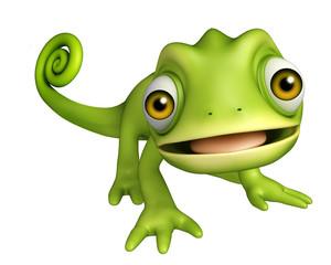 cute Chameleon funny cartoon character