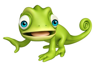 cute Chameleon funny cartoon character
