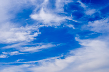 white cloud on blue sky, abstract background