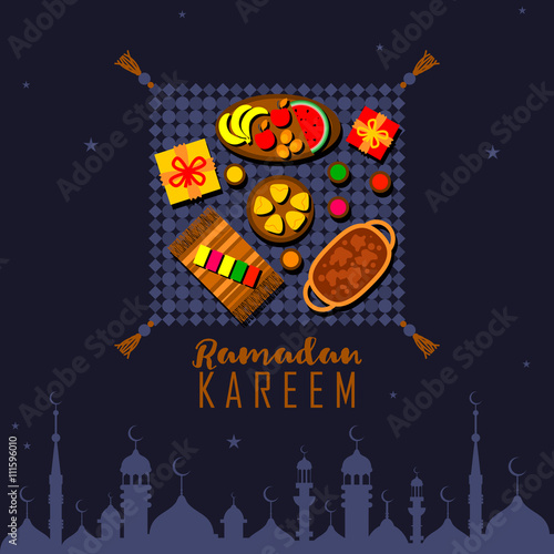 Iftar party background ramadan kareem celebration greeting card iftar party background ramadan kareem celebration greeting card background vector illustration islamic holy month stopboris Image collections