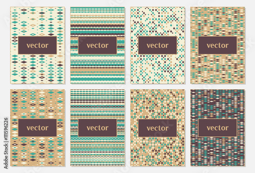 vector set of design templates leaflet covers and frames a4 size