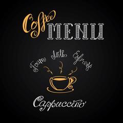Coffee cappuccino, hand drawing