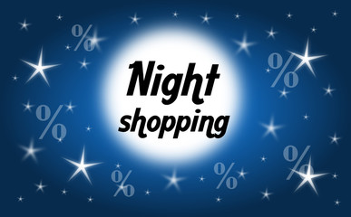 Night shopping background