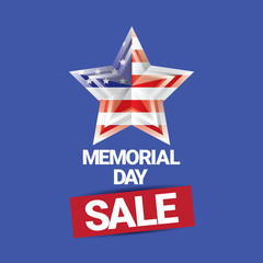 vector memorial day sale banner.