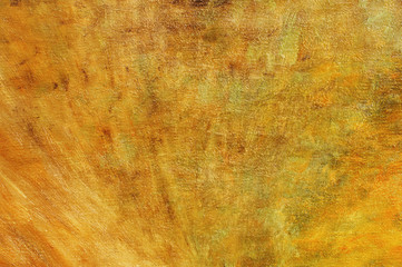 Oil painting orange brown abstract background with brush strokes on oil paint. Art concept.