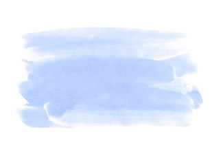 A fragment of the pale blue background painted with gouache