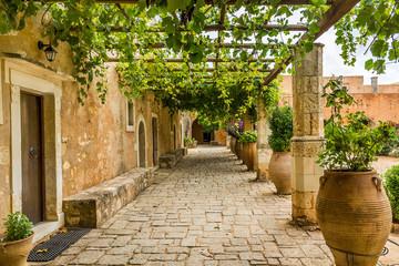 Obraz Monastery in the Mediterranean - fototapety do salonu