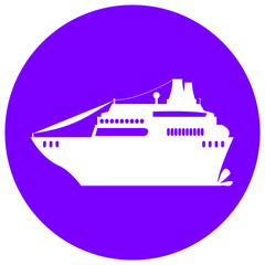 Cruise liner illustration with the place for text