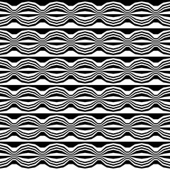 Vector hipster abstract geometry trippy pattern with stripes , black and white seamless geometric background, subtle pillow and bad sheet print, creative art deco, simple wood texture, fashion design