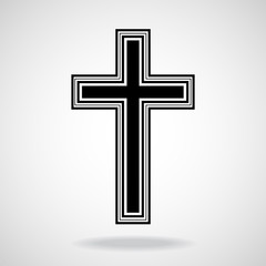 Cross. Christian Symbol. Vector illustration. Eps 10