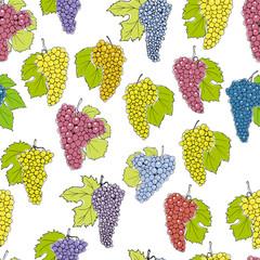 Wine grapes pattern