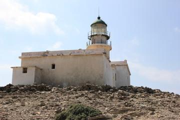 Prasonisi lighthouse, Rhodes, Greece.