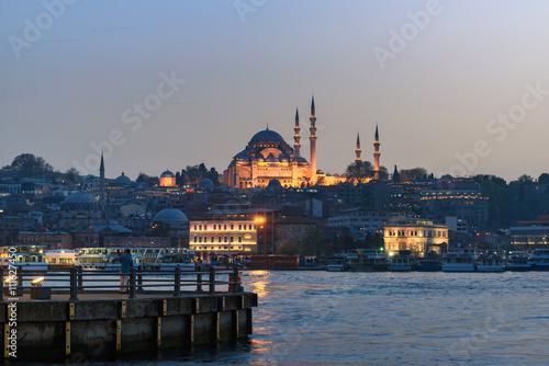 Wall mural The Süleymaniye Mosque in Istanbul Turkey
