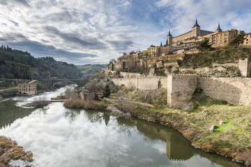 Ancient city of Toledo on the Tagus river (Tajo). Spain.