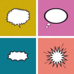 Set of comic expressions