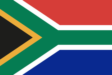 South Africa flag, official colors and proportion correctly, stylish vector illustration