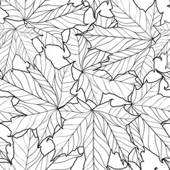 Floral seamless pattern. Leaves background. Nature ornamental te
