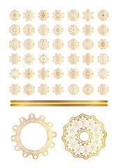 Oriental vector gold pattern