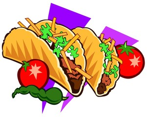 Traditional Mexican cuisine illustration